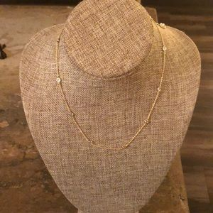 Jewelry - NWT Gold filled necklace with cubic zirconia.